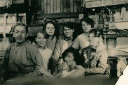 Alingsås bomullsväveri, Solvavdelningen.  Från vänster: Albe