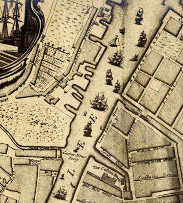 Detalj fra kart over Cork fra 1759, tegnet av John Rocque. Foto/Photo