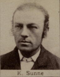 Ertsleiter Karl K. Sunne (1851-1908) (Foto/Photo)
