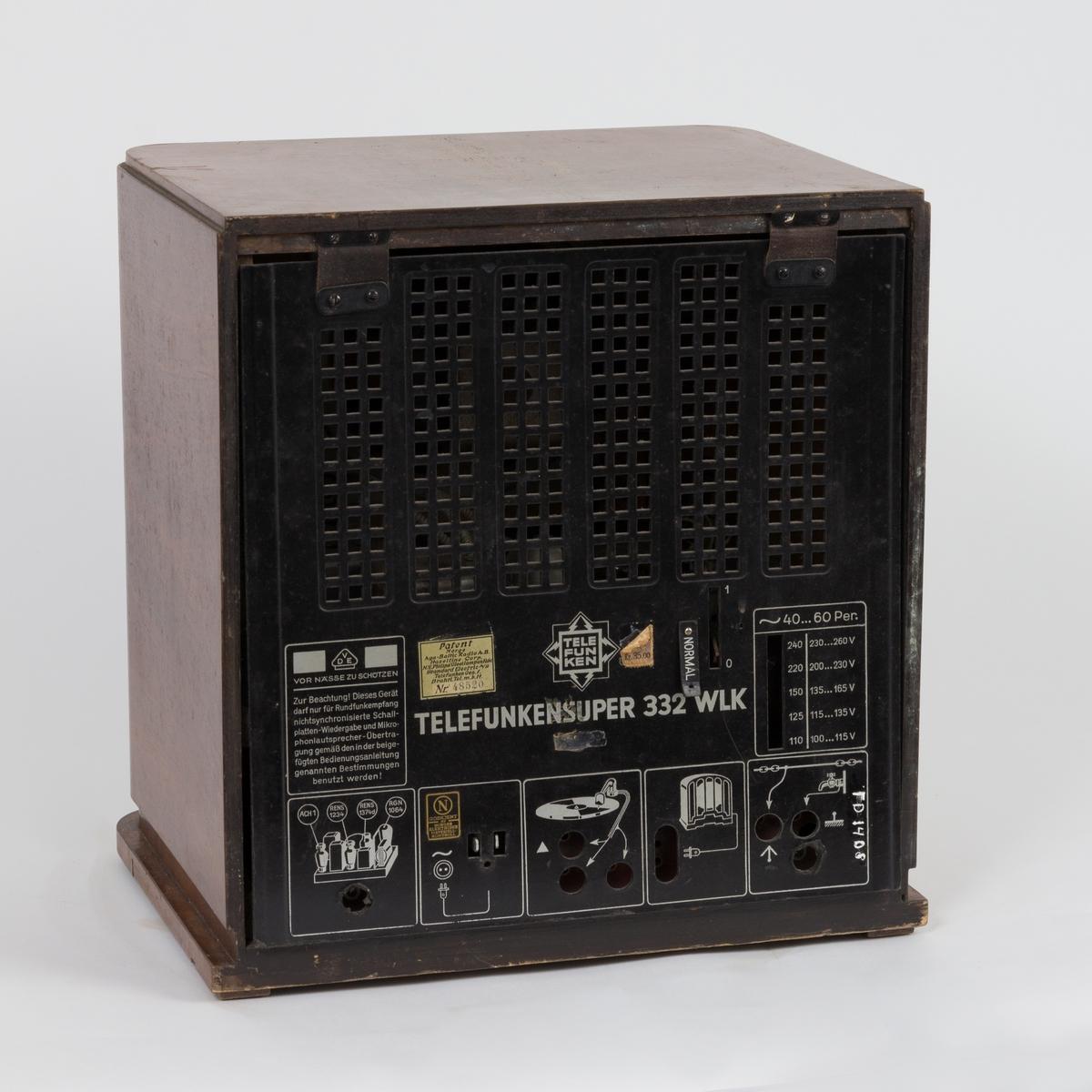 Telefunken super 332 WLK radio
