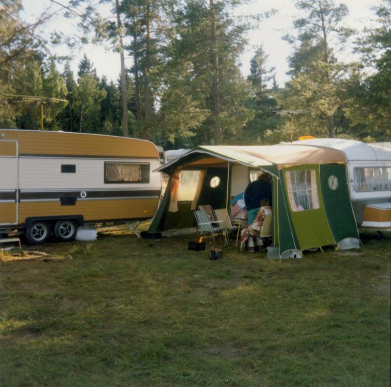 Sveastranda camping, Gjøvik, ca. 1985. Foto: Tove Iren Herberg. (Foto/Photo)