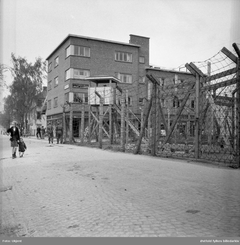 Askim gummivarefabrikk under krig og frigjøring i  1945.