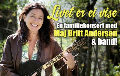 Maj Britt Andersen med gitar.. Foto/Photo