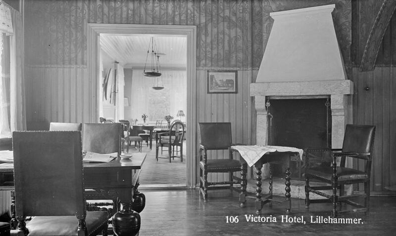 Victoria Hotel, Lillehammer, ca. 1924-37. Foto: Maihaugen. (Foto/Photo)