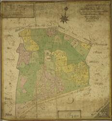 Geografisk karta över Grippeby bys ägor uti Västmanlands höv