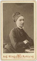 Kabinettsfotografi - mademoiselle Sofie Nilsson, Nyköping 18