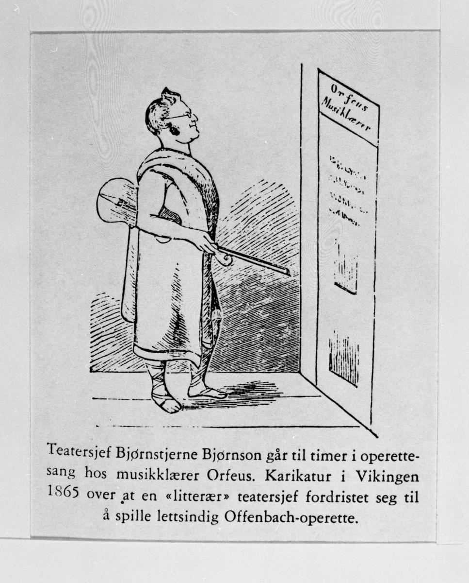 Karikatur, Bjørnson, teatersjef, Orfeus,