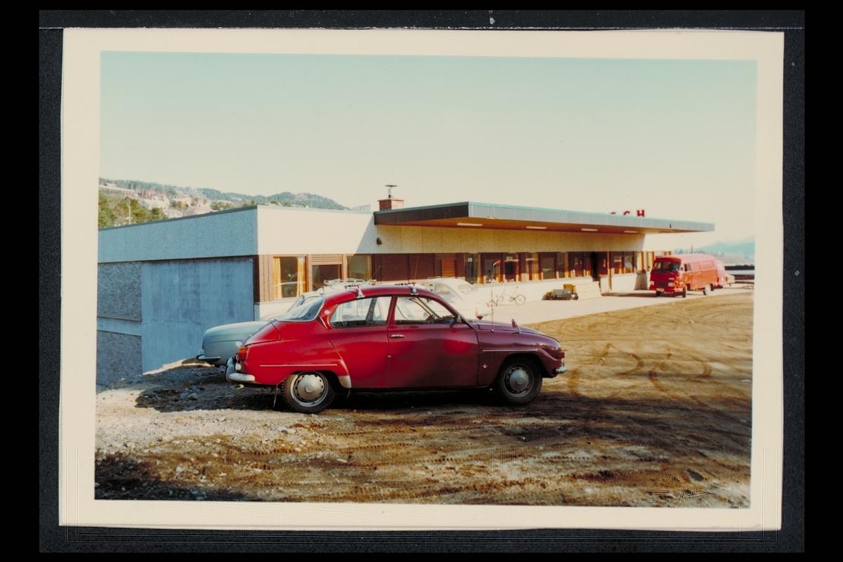 eksteriør, postterminal, 6400 Molde, postbil, Saab modell 96