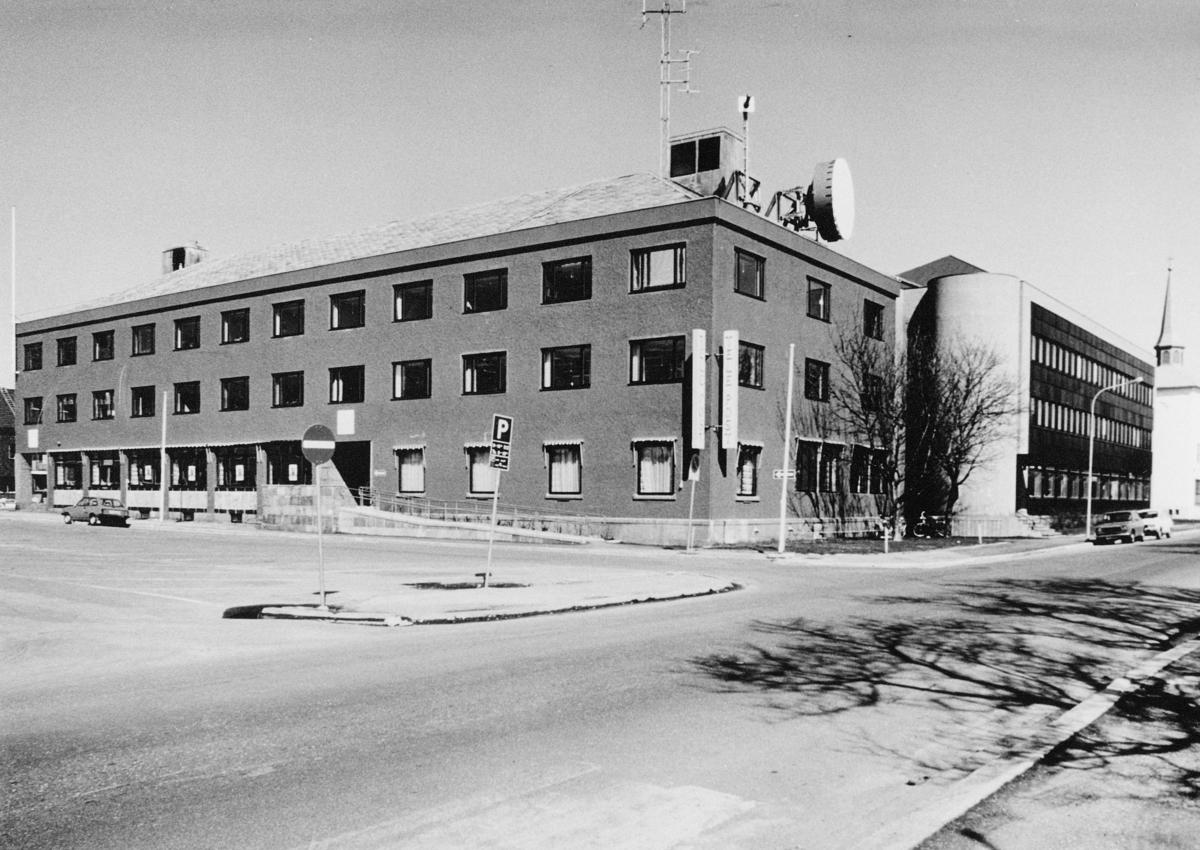 eksteriør, postkontor, Bodø post- og telebygg, tilbygget tatt i bruk sep. 1978