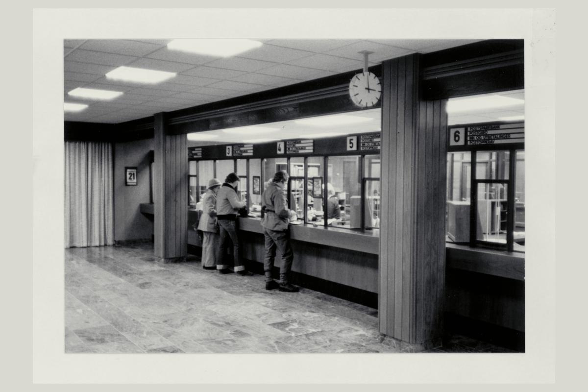 interiør, postkontor, 7700 Steinkjer, kunder