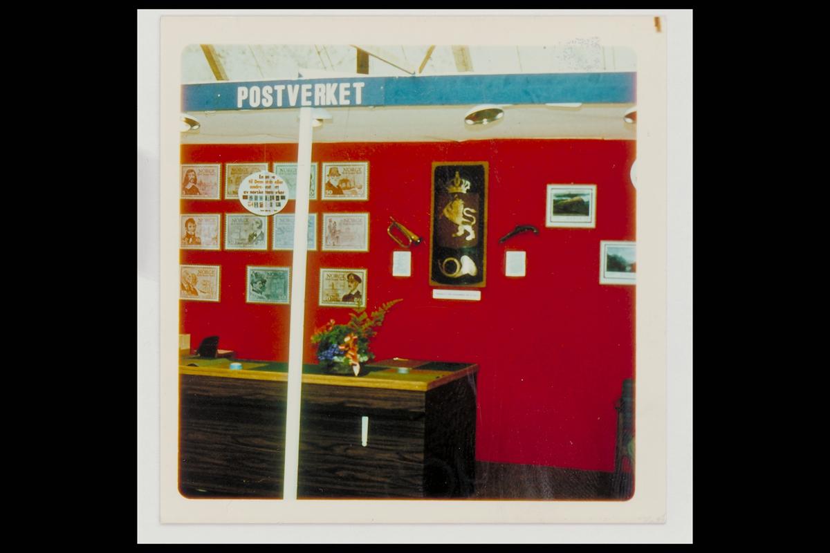 interiør, postkontor, 3600 Kongsberg, utstilling, skilt, revolver, posthorn