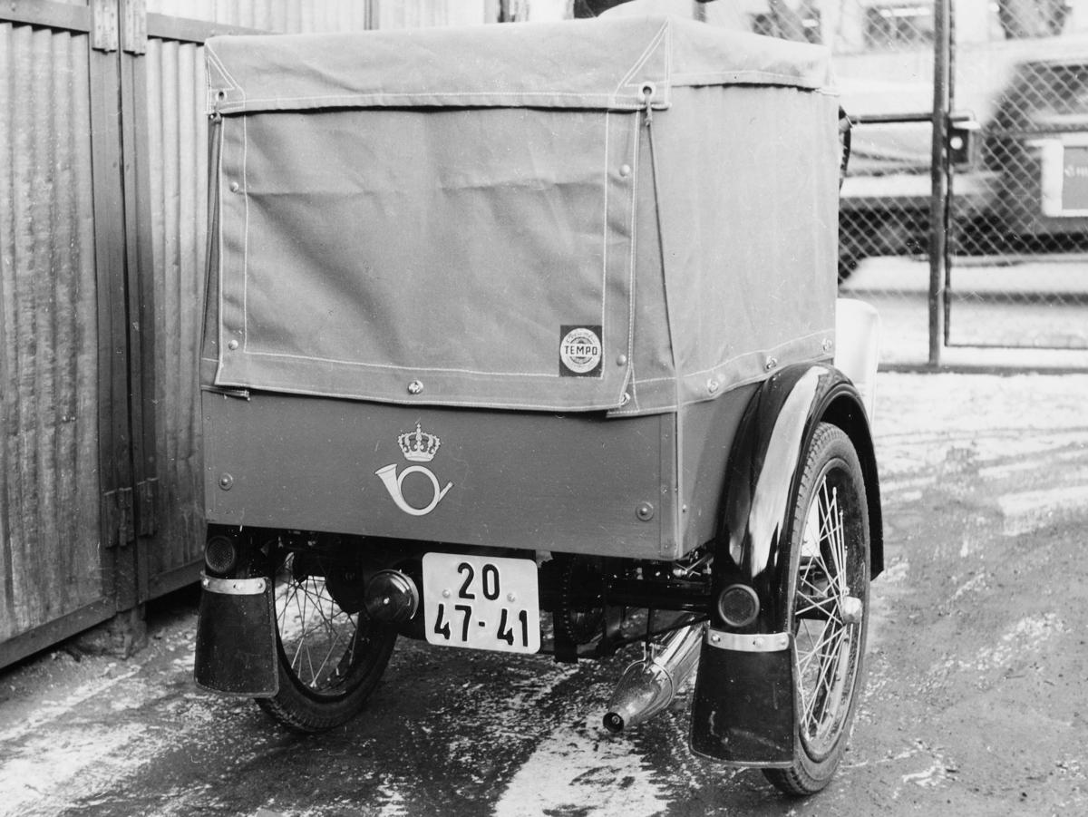 transport, motorsykkel, Tempo Transport varesykkel modell 1965