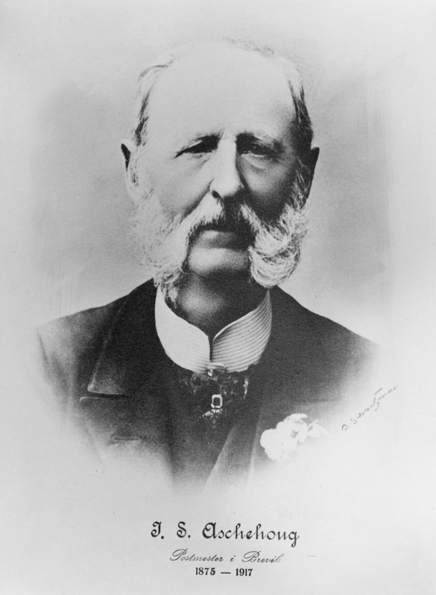 portrett, postmester, Jens Severin Aschehoug