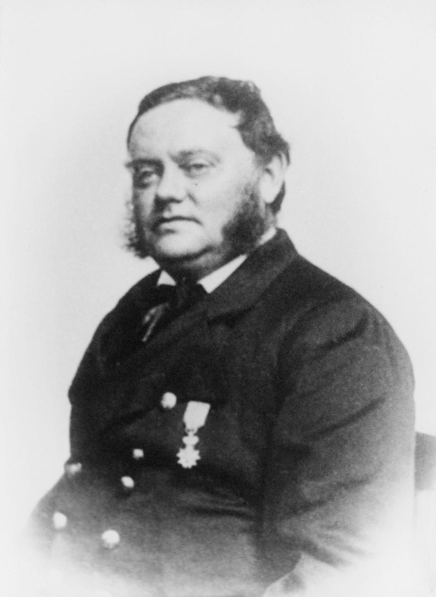 portrett, postmester, Claus Oluf Petersen