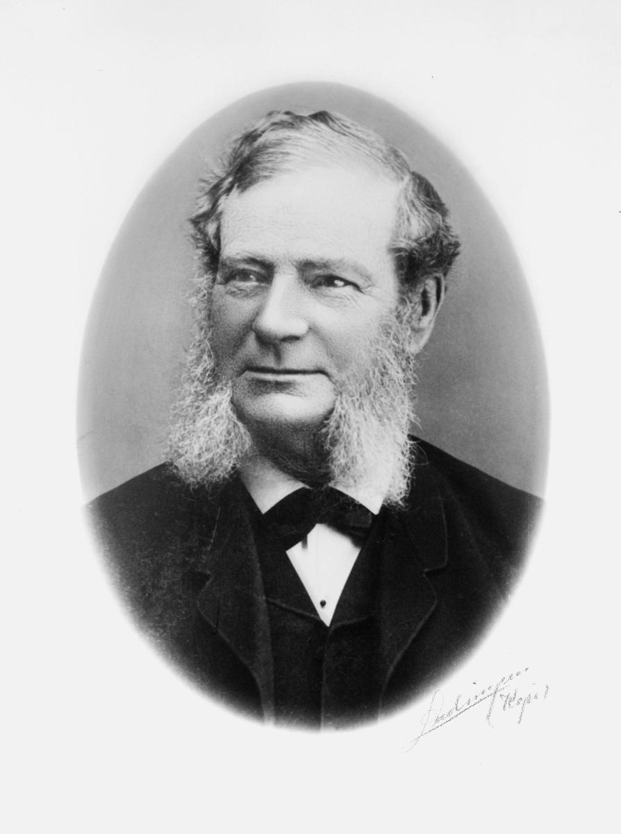 portrett, postmester, Johan Henrik Paaske