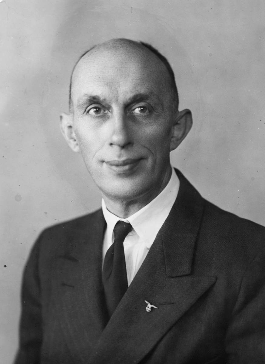 postmester, midlertidig, Ugland Christopher Huldt, portrett
