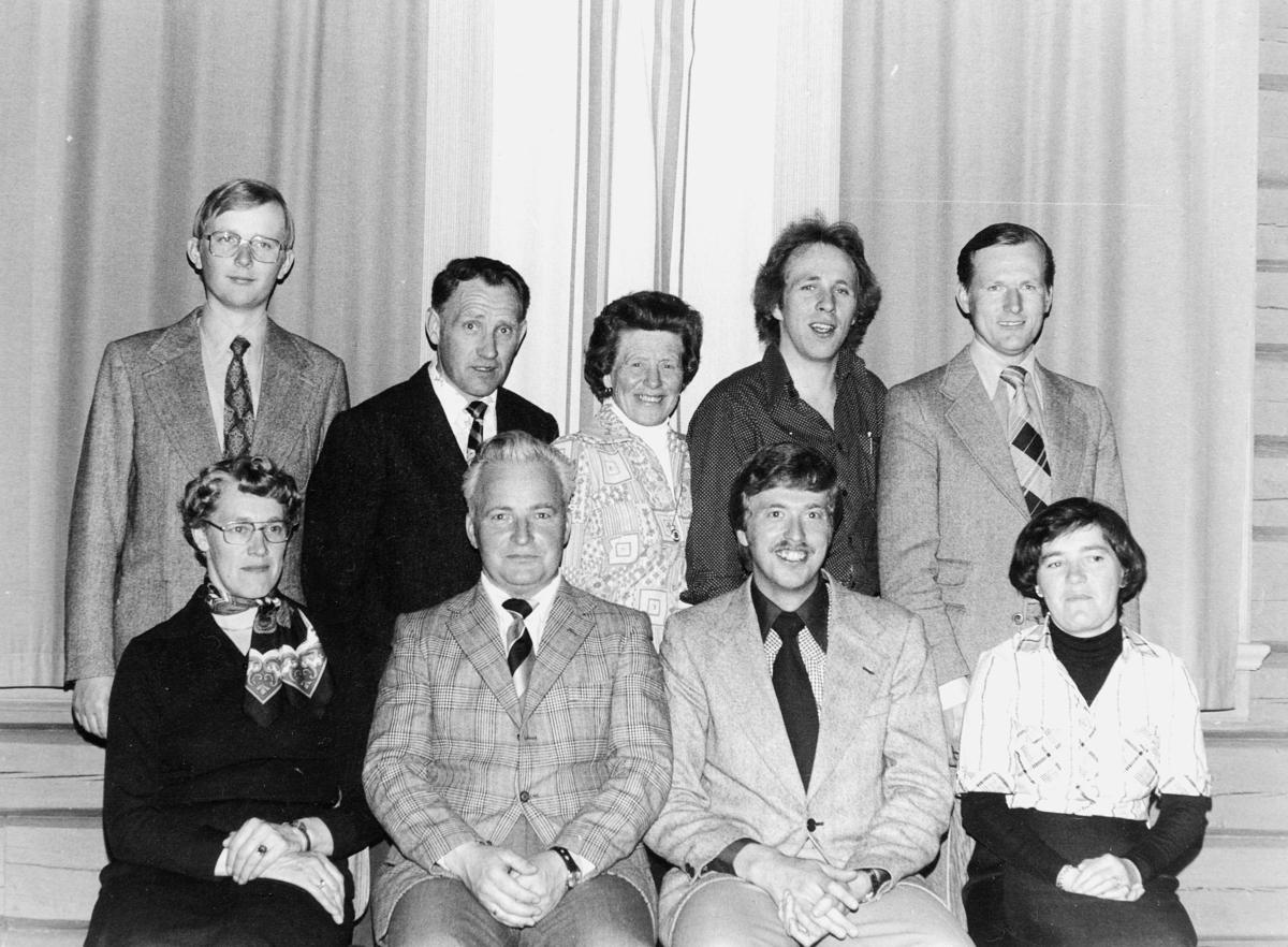 gruppebilde, Romerike krets av Norsk Postforbund, styret 1978, Jessheim i Ullensaker