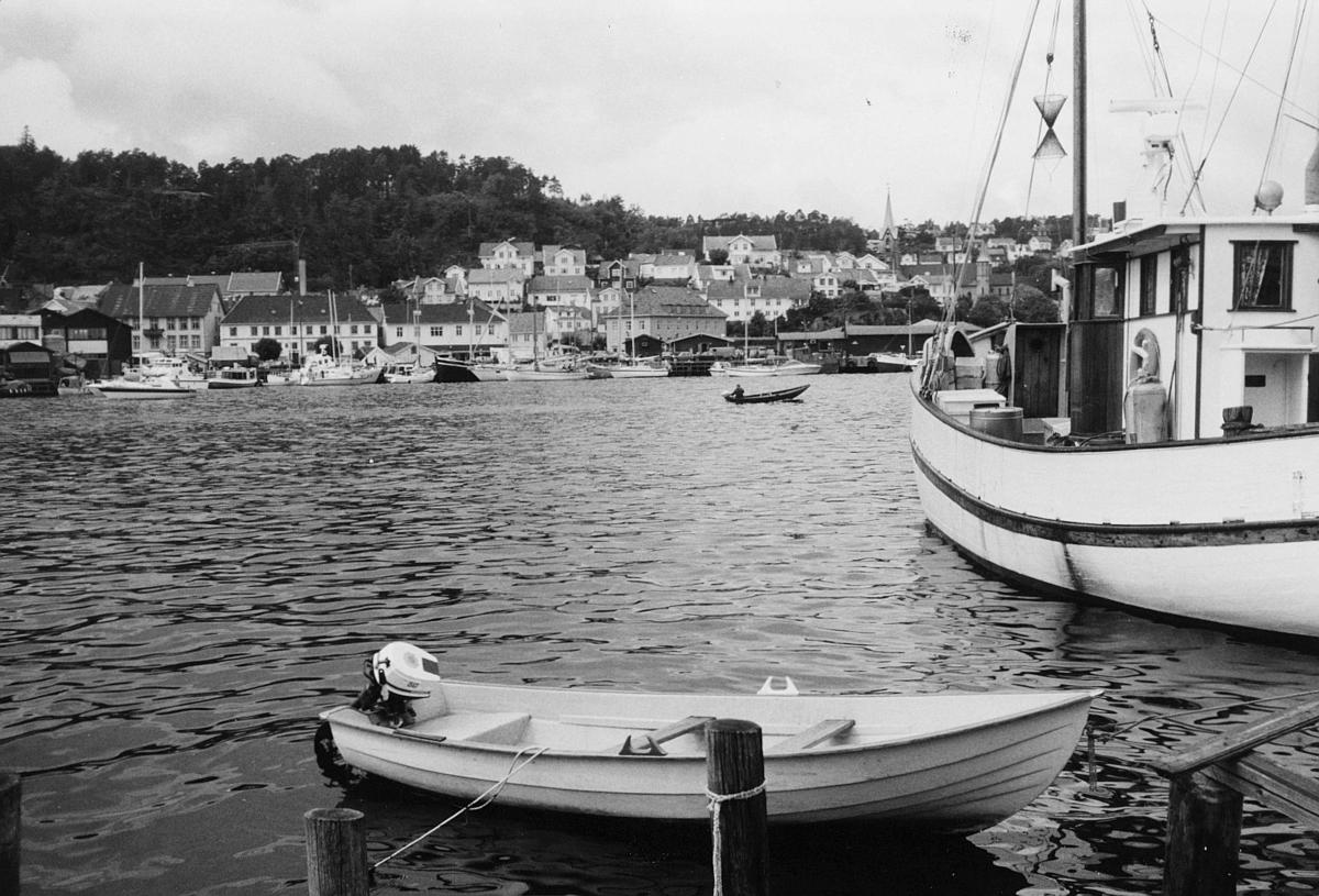 norgesbilder, Kragerø, bybilde, vann, båt