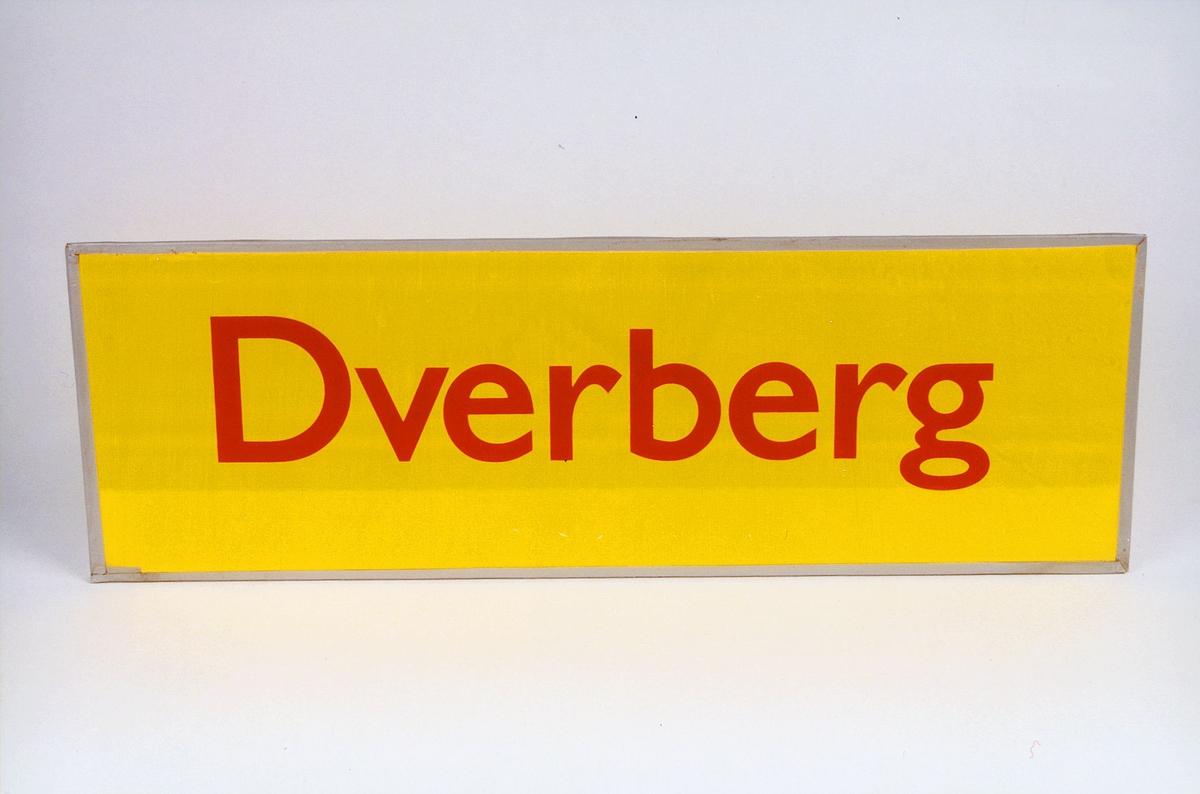 Postmuseet, gjenstander, skilt, stedskilt, stedsnavn, Dverberg.