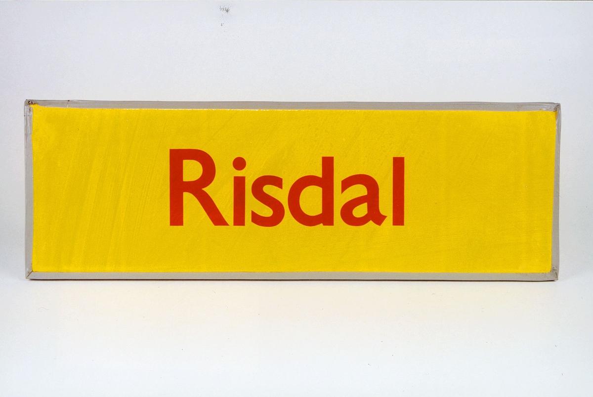 Postmuseet, gjenstander, skilt, stedskilt, stedsnavn, Risdal.