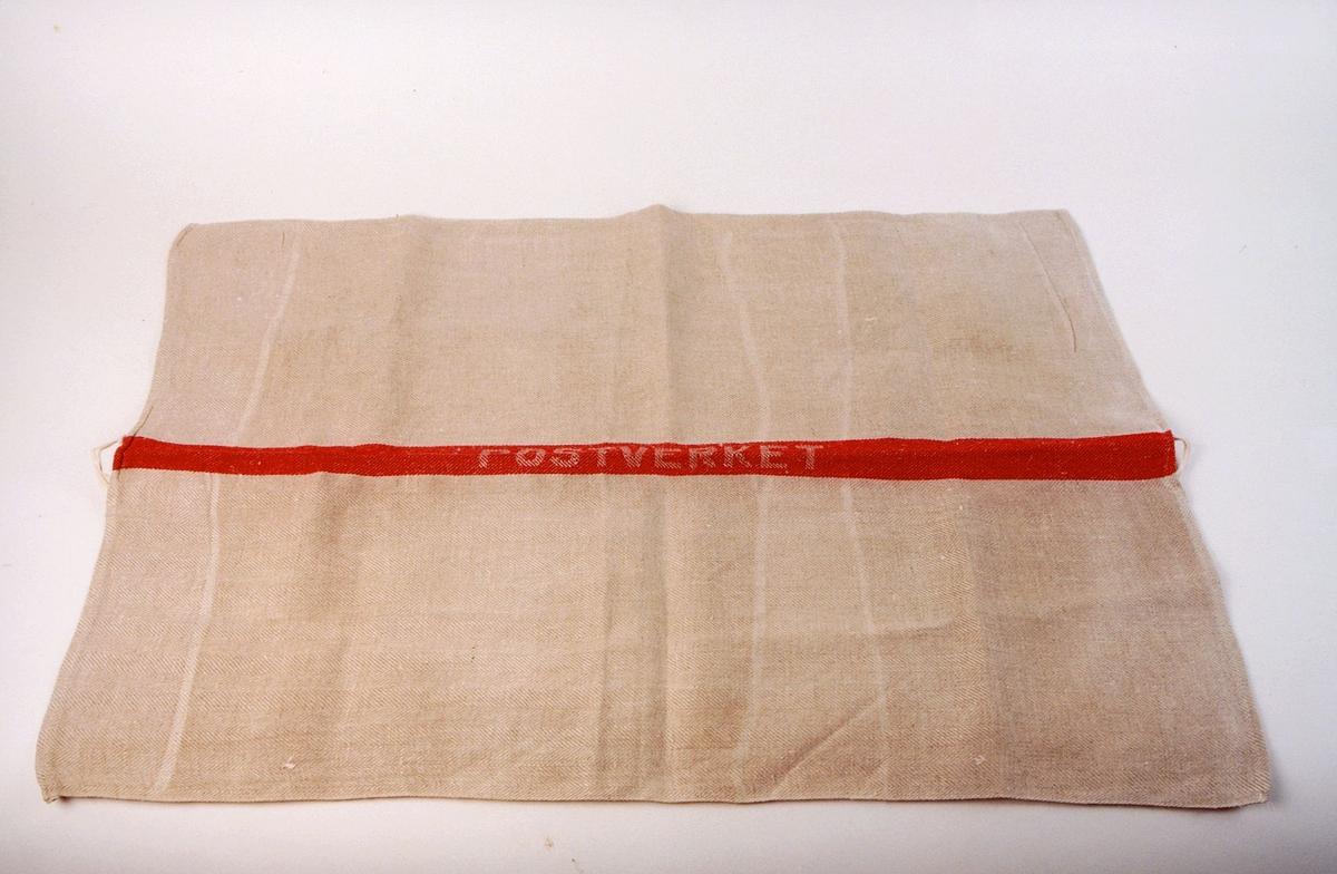 postmuseet, gjenstander, håndkle, linhåndkle, Postverket