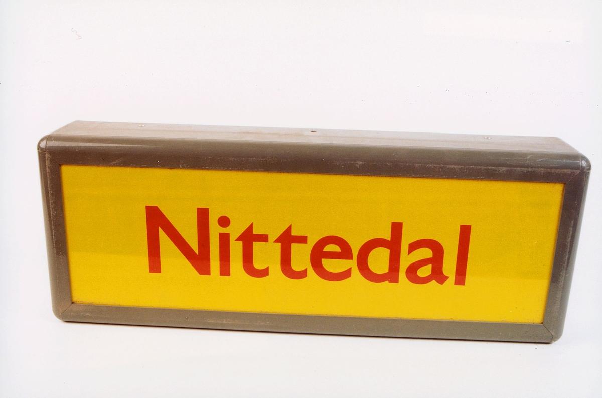 postmuseet, gjenstander, skilt, stedskilt, stedsnavn, Nittedal