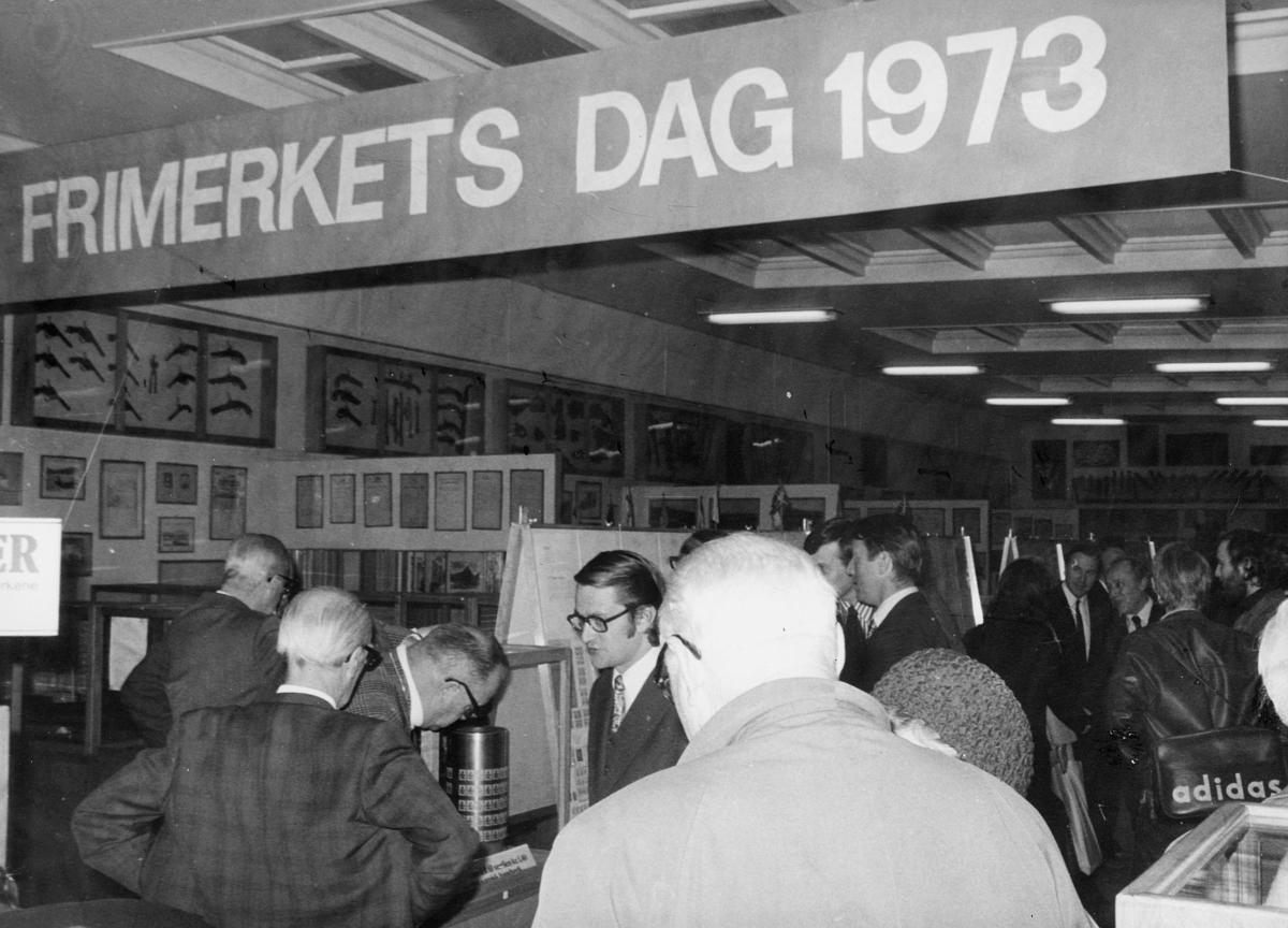 markedsseksjonen, Frimerkets dag '73, Postmuseet, utstilling, 9.-21. oktober