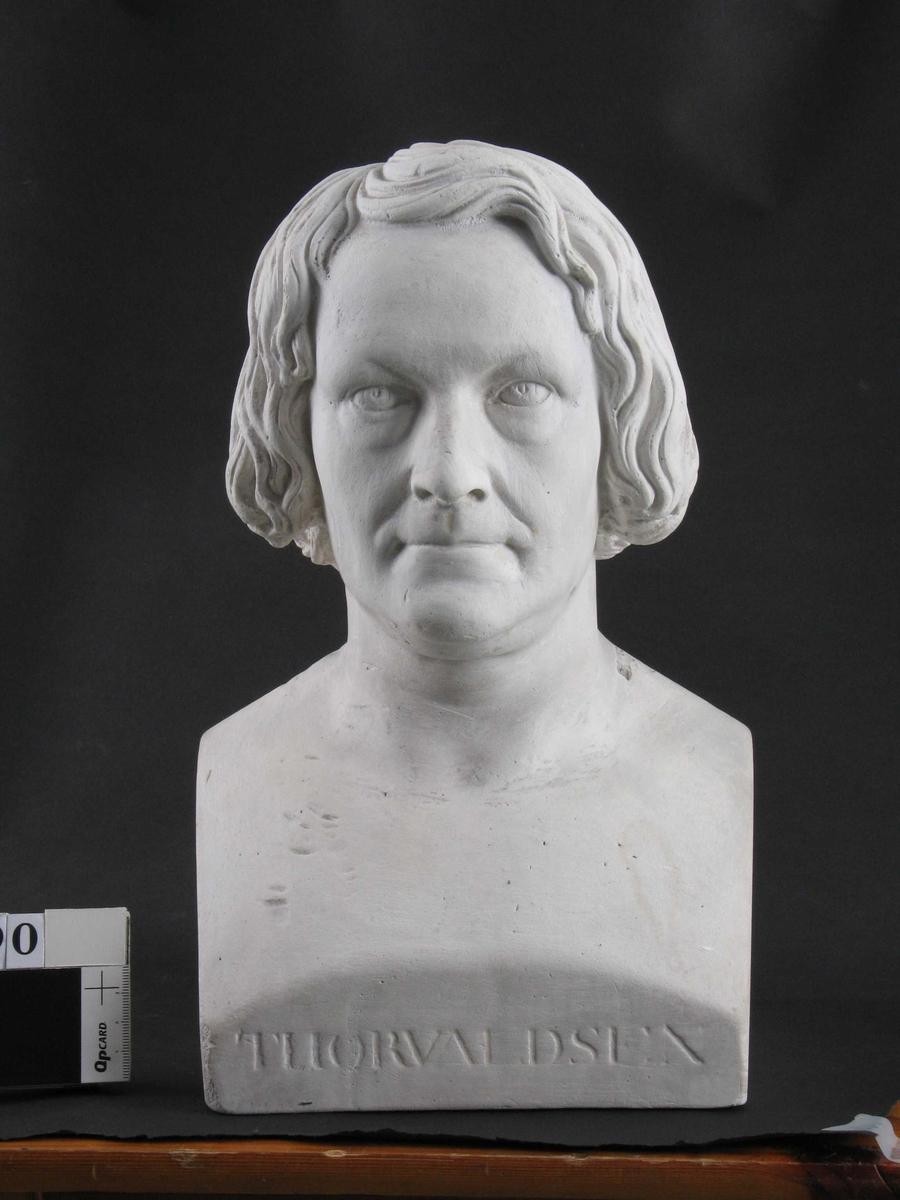 Portrettherme av Bertel Thorvaldsen,  dansk billedhugger (1770-1844)   Miniatyravstøpning ?