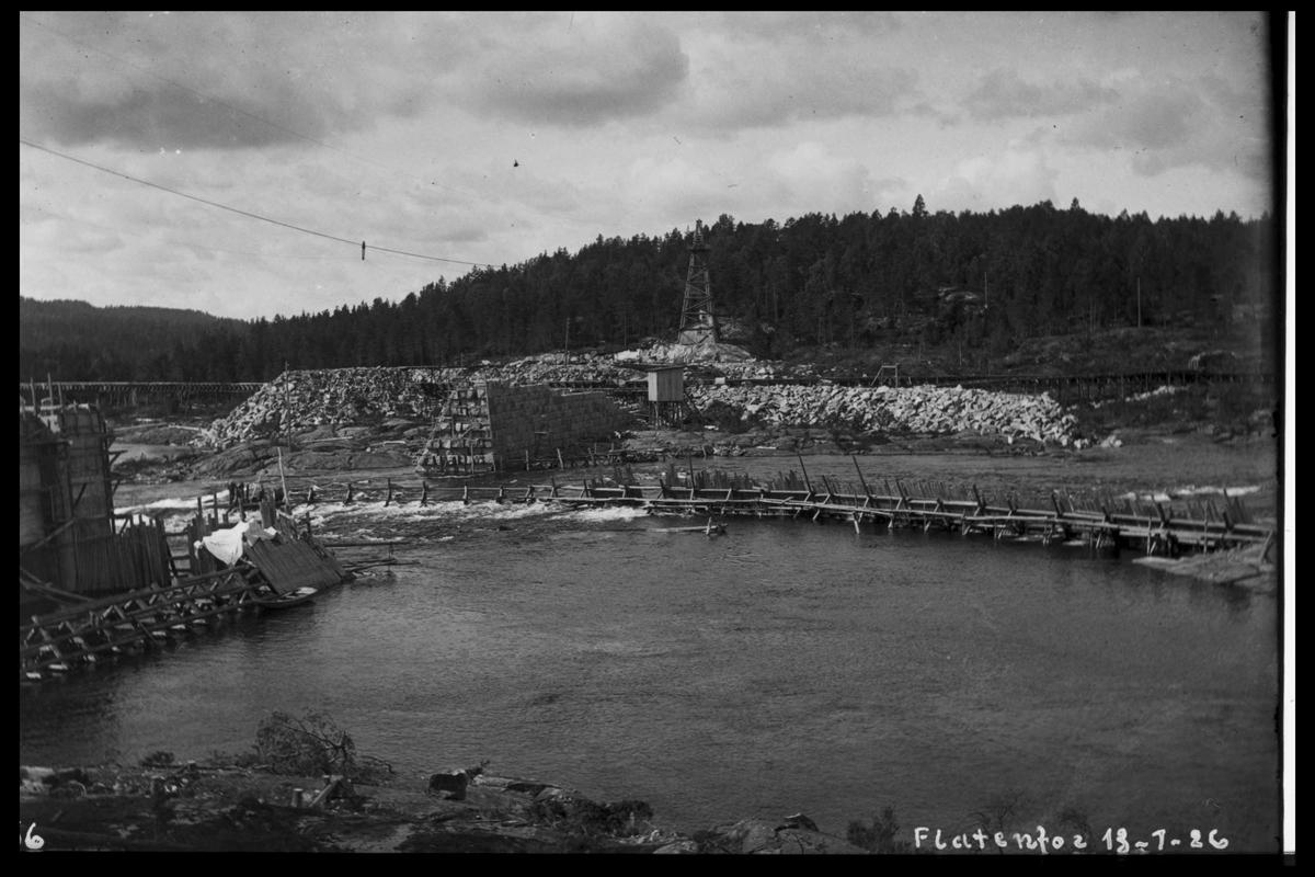 Arendal Fossekompani i begynnelsen av 1900-tallet CD merket 0468, Bilde: 64 Sted: Flaten Beskrivelse: Byggeområdet