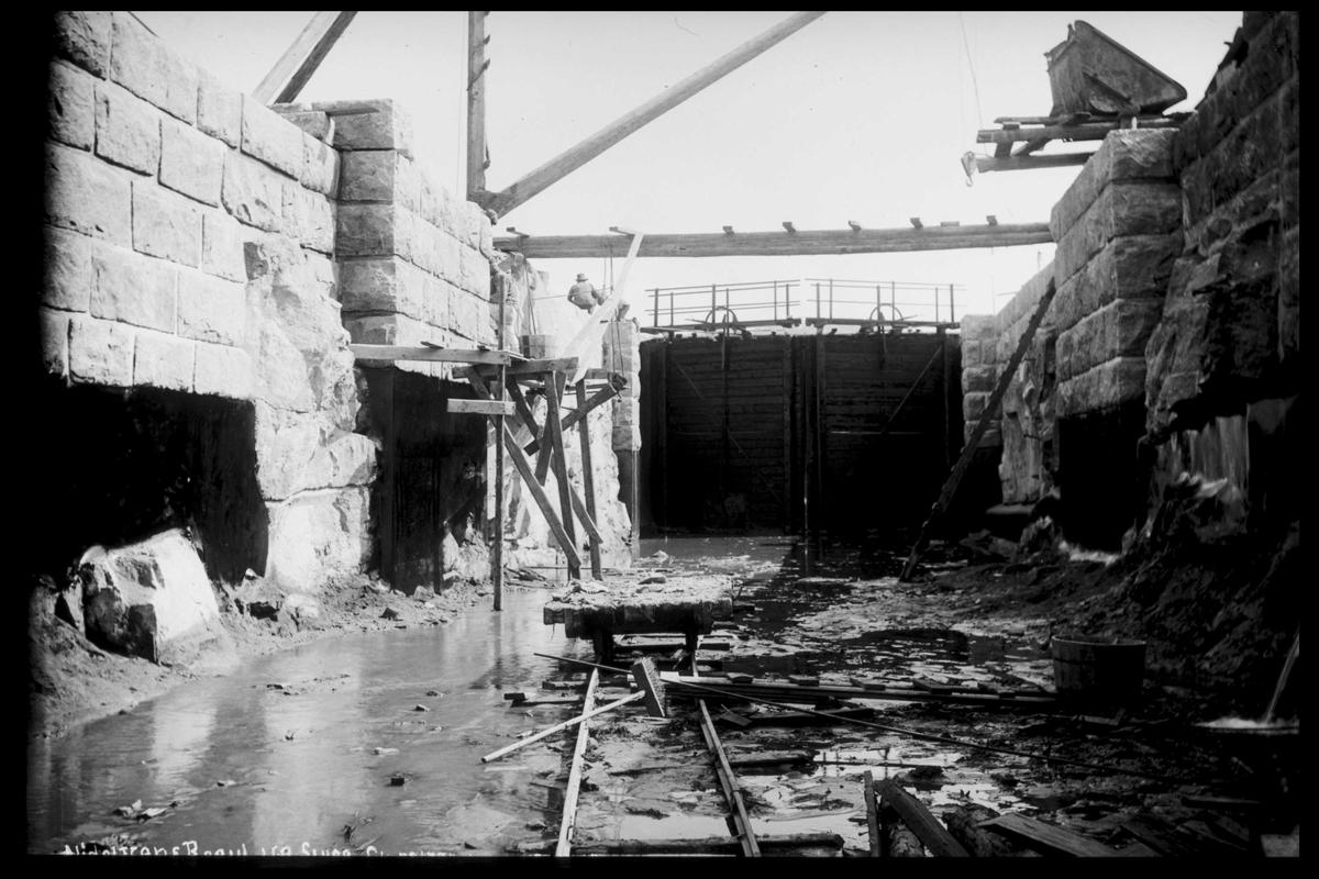 Arendal Fossekompani i begynnelsen av 1900-tallet CD merket 0565, Bilde: 55 Sted: Nisser Beskrivelse: Regulering Småstraumene