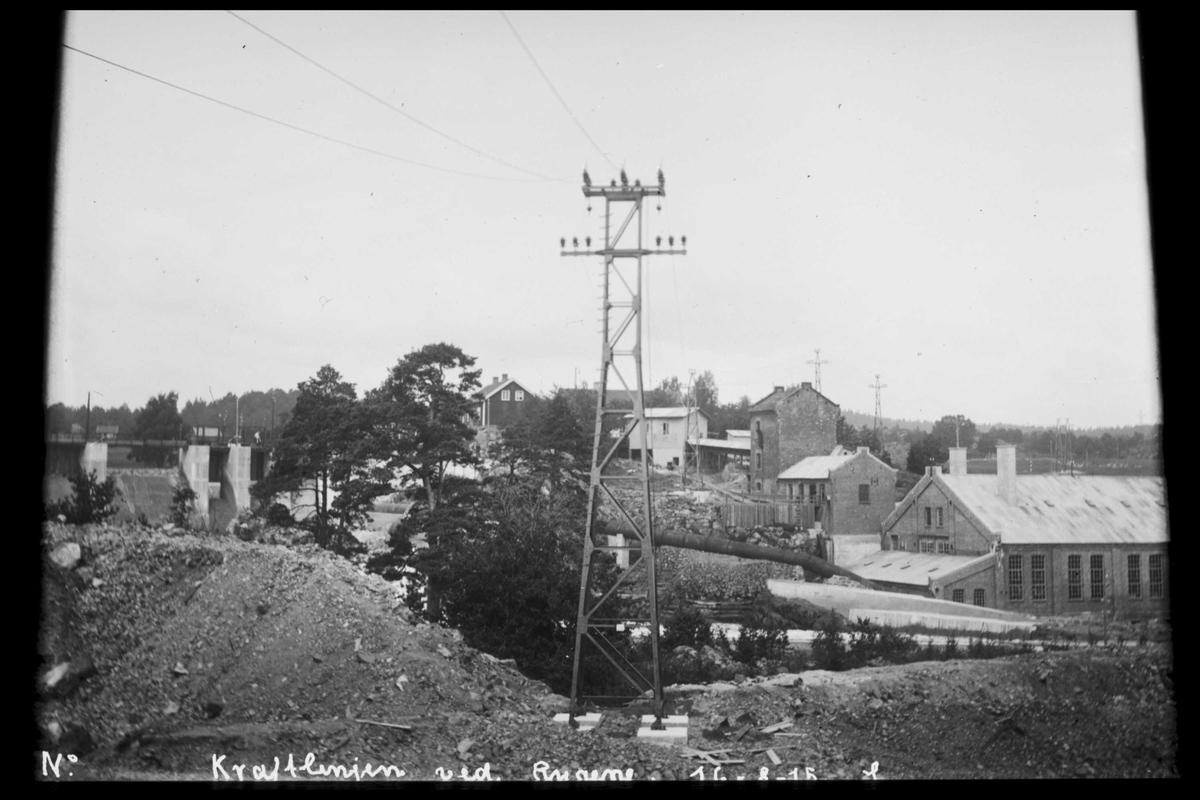 Arendal Fossekompani i begynnelsen av 1900-tallet CD merket 0565, Bilde: 93 Sted: Rygene Beskrivelse: Kraftlinja