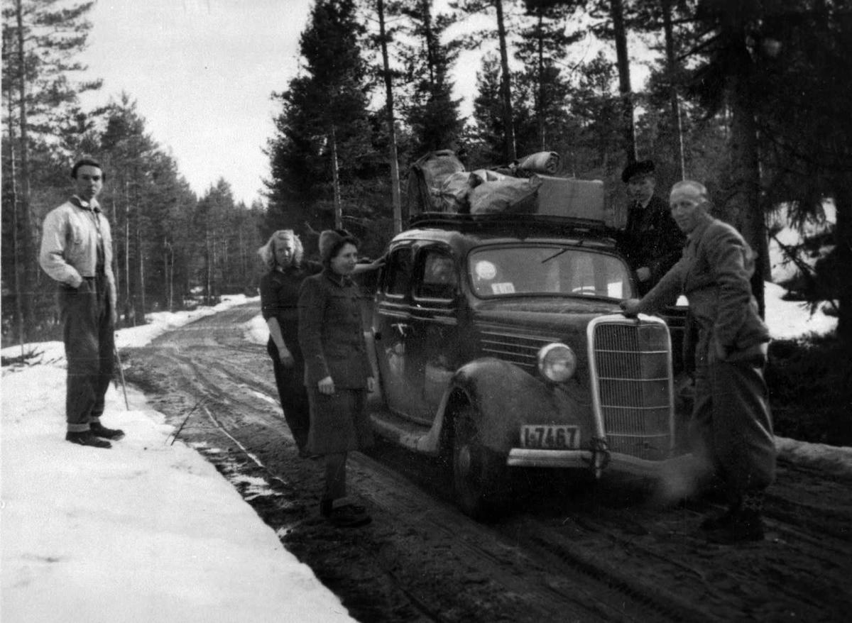 Åmlibilder samlet av Åmli historielag Biltur i Gjøvdal