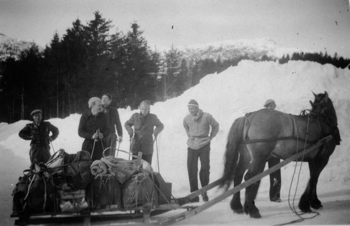 Åmlibilder samlet av Åmli historielag Snøvinter i Gjøvdal