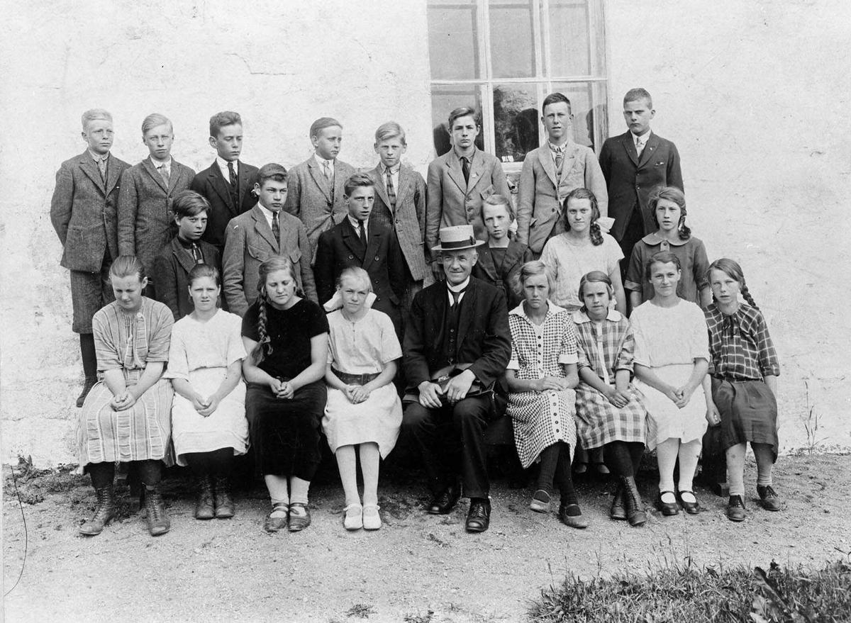 7. klasse Kråkstad skole 1924.