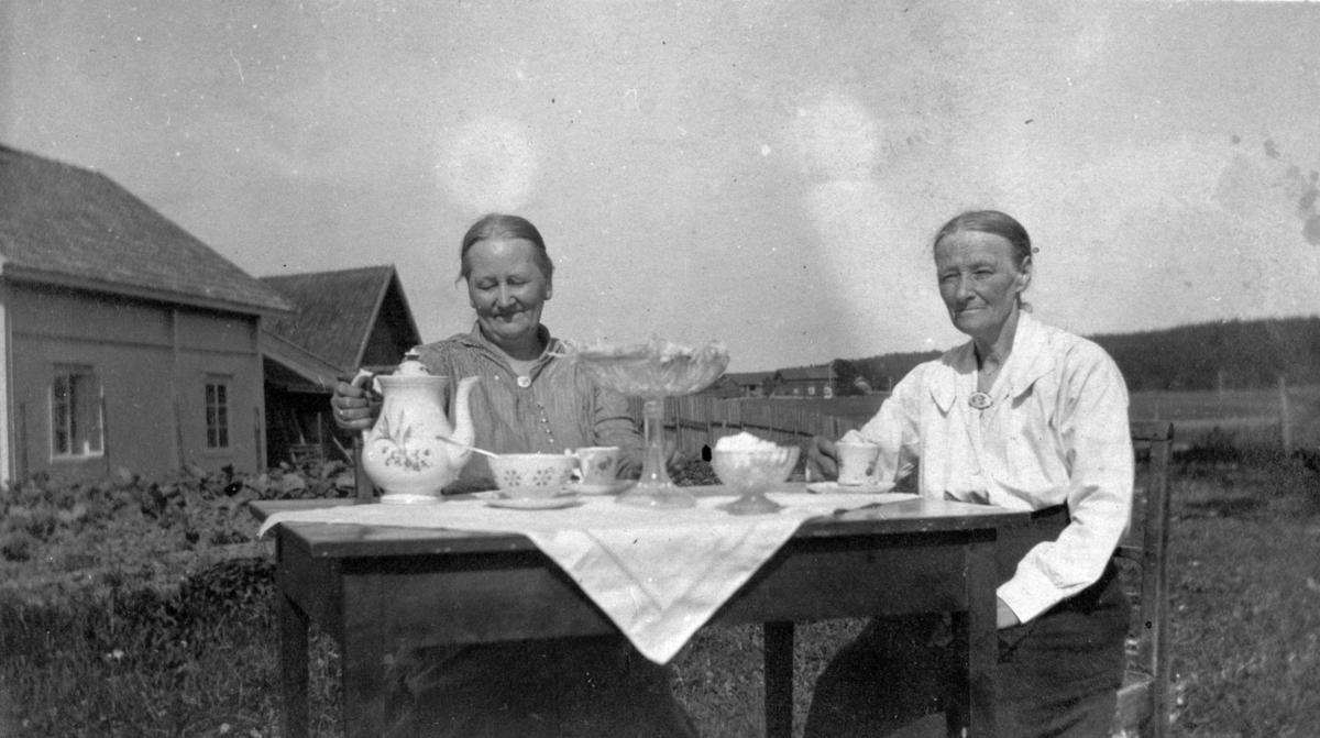 Søstre ved kaffebordet