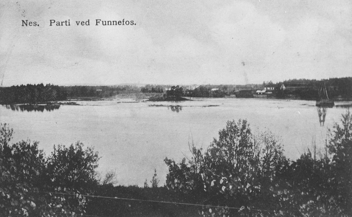 Nes. Parti fra Funnefoss. (postkort)