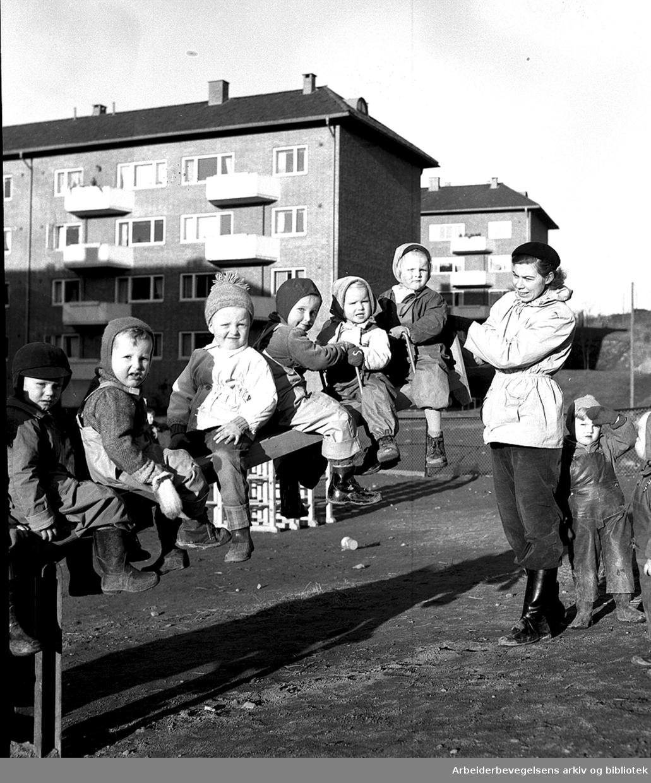 Søndre Åsen barnehage,.november 1953
