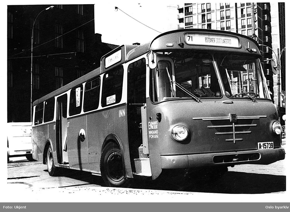 Oslo Sporveiers buss, A-15739, linje 71, Büssing 1965