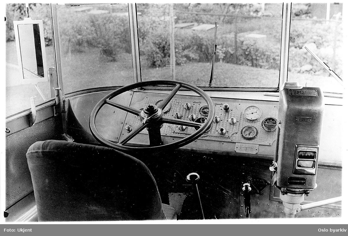 Førerplass buss