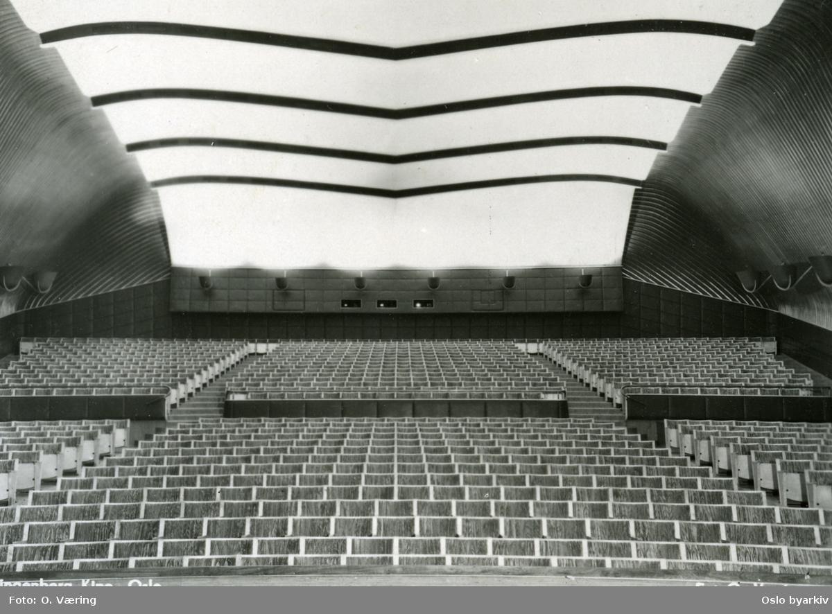 Interiør fra Klingenberg kino etter moderniseringen i 1955?Arkitekt Blakstad & Munthe Kaas