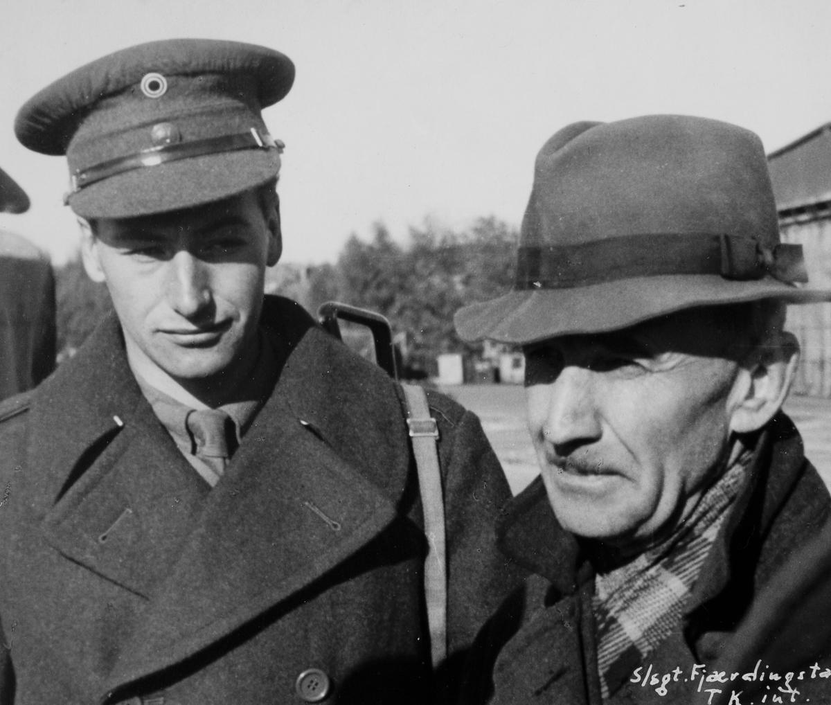 Visekorporal MP/Brig. 472, Sverre Dahl,  og tyskeren Julius Denzer.
