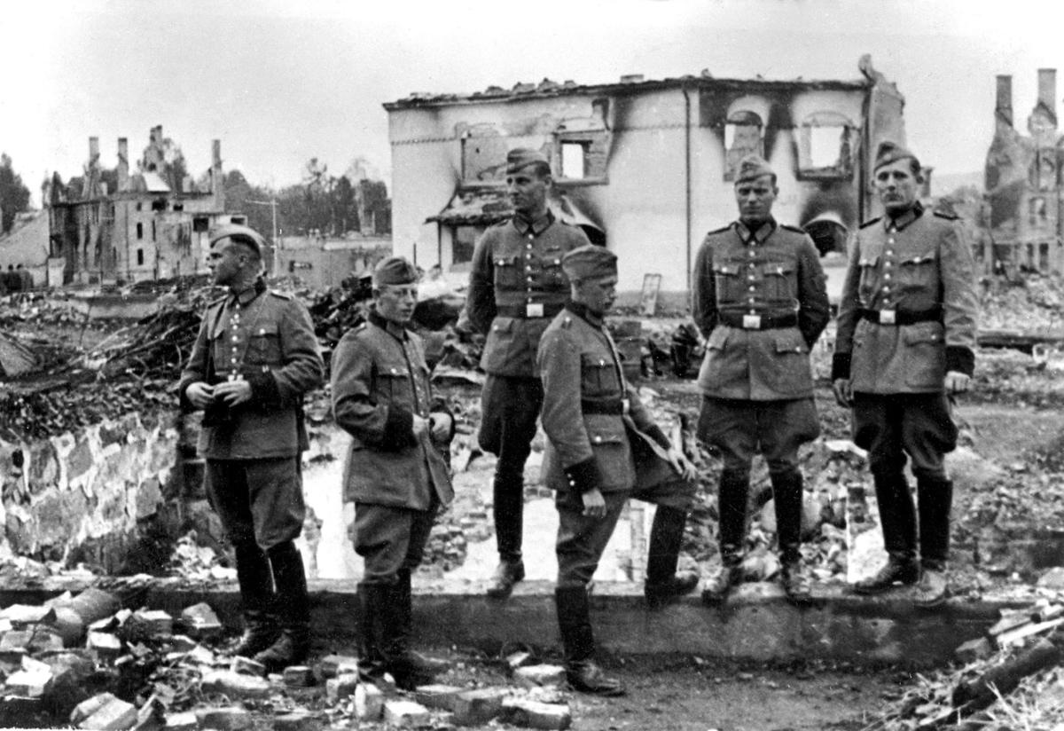 Tyske soldater i Leiret