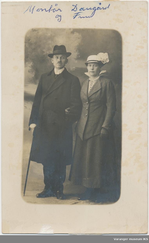 Dobbeltportrett, Hans Christian og Oswalda Daugaard