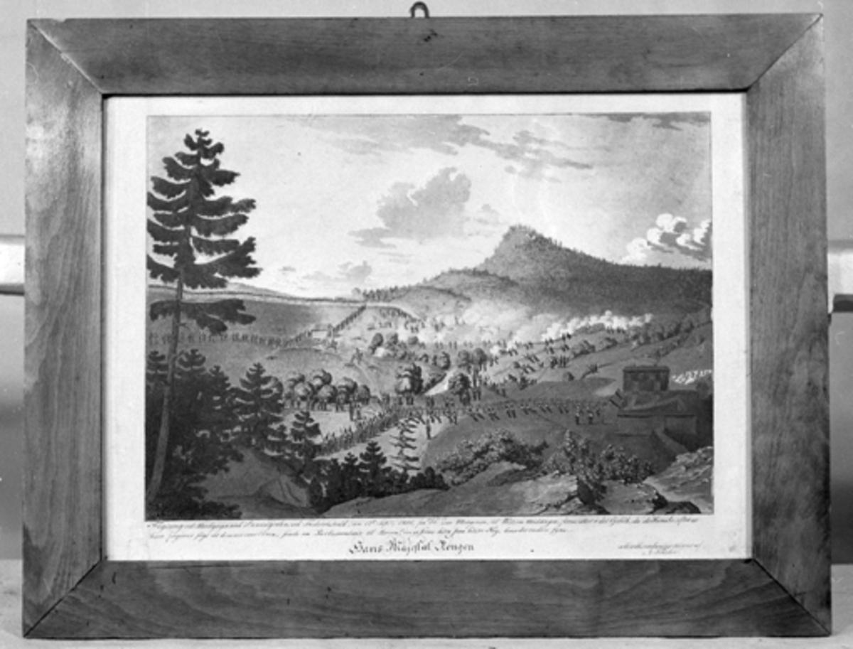 Fektningen ved Berbygaard i Emingdalen [Maleri]