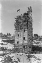 Wallenberg sjakttårn under oppførelse.
