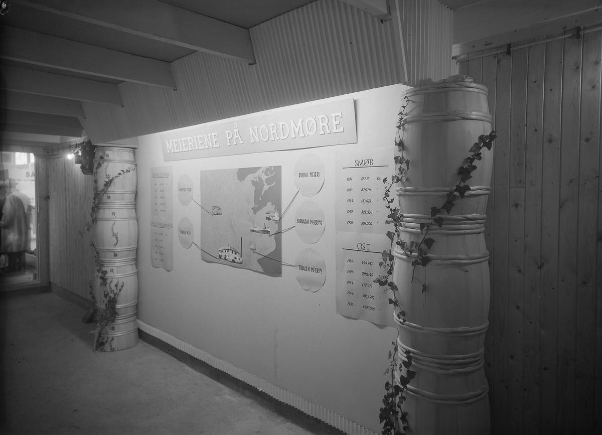 Nordmørsutstillinga i Kristiansund 1950. Meieriene på Nordmøre