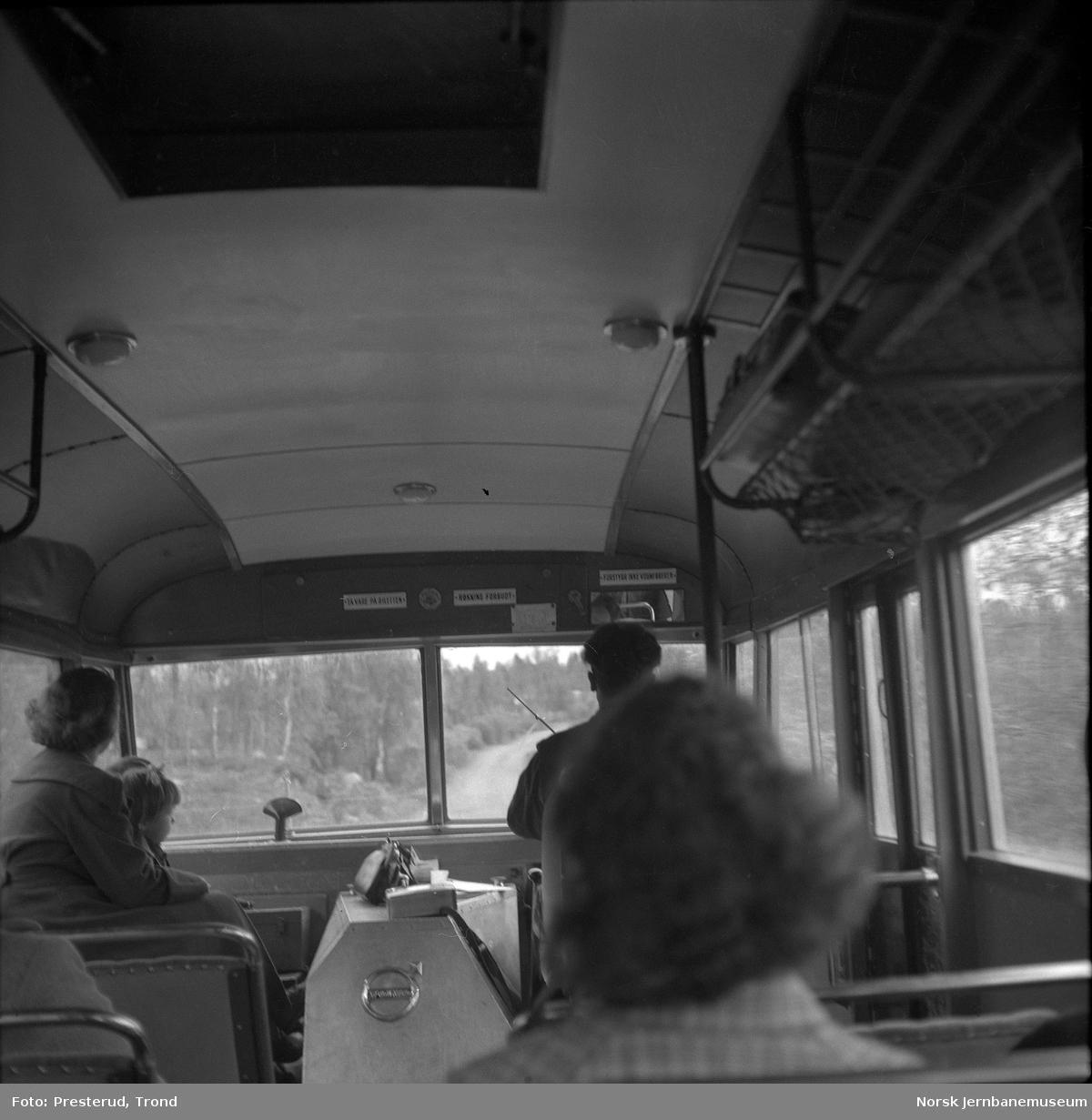 Bussinteriør - reise  med Nord-Norgebussen