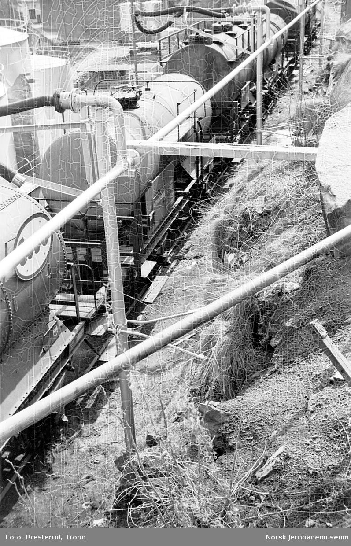 Tankvogner på tømmeanlegg på Høvringen i Trondheim