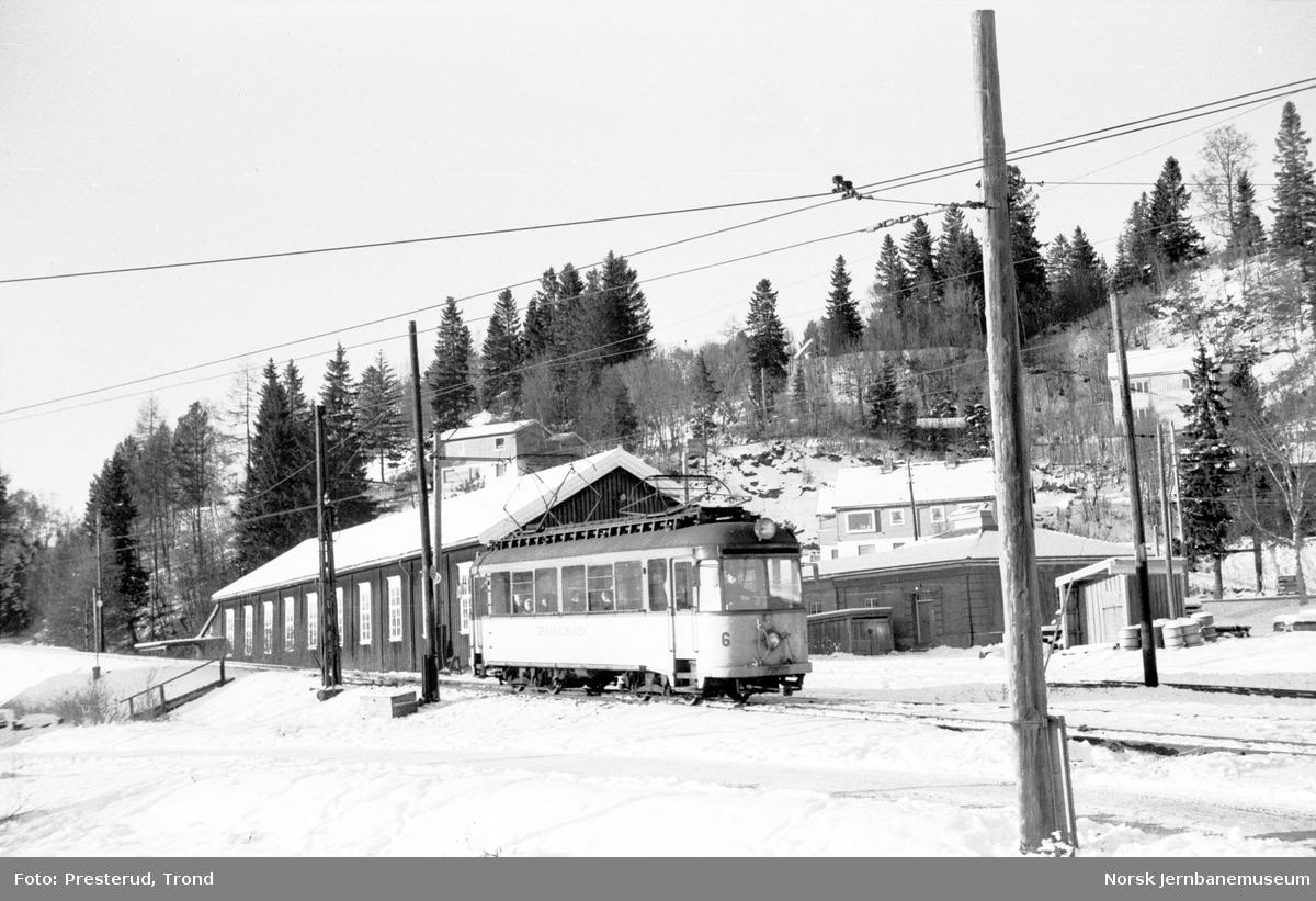 Gråkallbanens vogn 6 på Munkvoll