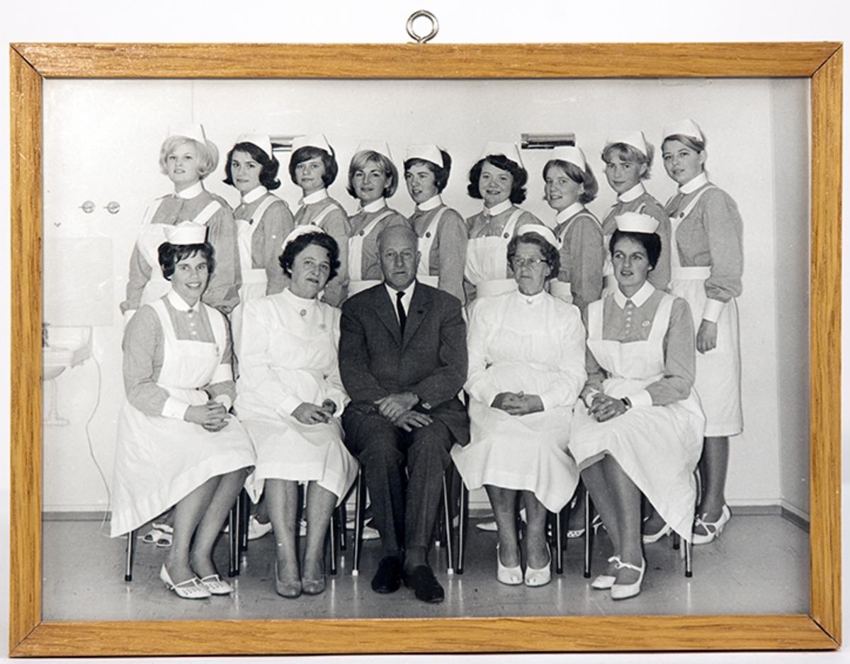 Drøbak Sykestue- og fødehjem. Gruppebilde, elevkullet 1965-66.